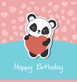 cute panda bear of cute panda bear vector image