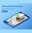 delivery service concept cargo truck vector image