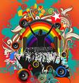 DJ music festival vector image vector image