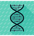 DNA flat icon vector image vector image