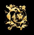 elements in baroque rococo victorian vector image vector image