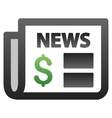 Financial Newspaper Gradient Icon vector image