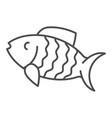 fish thin line icon animal vector image vector image