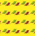 flat summer beach chair pattern vector image vector image