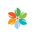flower color design logo icon vector image
