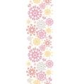 Folk floral circles abstract vertical seamless vector image vector image