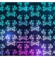 glowing damask pattern vector image