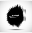 halftone dots circle perspective octagon frame vector image