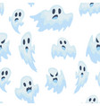 halloween ghost seamless vector image