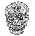 Hand draw skull vector image vector image
