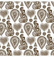 henna seamless pattern with lace element and vector image
