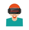 hipter man virtual reality glasses technology new vector image