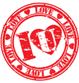 I Love you stamp vector image vector image