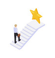 isometric personal growth concept vector image