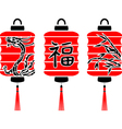 Japanese lanterns vector image vector image