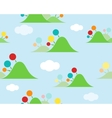 Kids islands seamless wallpaper vector image vector image
