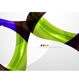 Leaf shape wave abstract background vector image vector image