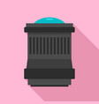lens icon flat style vector image