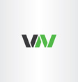 logo logotype letter v and n or letter w vector image vector image