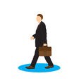 Man with briefcase Businessman vector image vector image