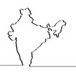 map of india continous line vector image