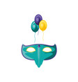 mask carnival with balloons helium vector image