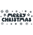 merry christmas caption vector image vector image