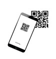 mobile phone device with scanning icon on it vector image vector image