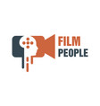 modern movie people logo vector image vector image