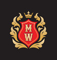 monogram m w initial letters - concept logo vector image vector image