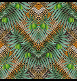 olive wreathes greek 3d seamless pattern vector image