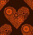 Orange Love Heart Patterned Background vector image