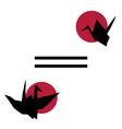 origami template design vector image