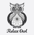 owl anti stress coloring vector image vector image