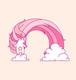 pink unicorn room art vector image vector image
