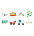 playground entertainment icons in set collection vector image