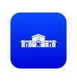 railway station building icon digital blue vector image vector image