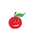 red apple fruit happy apple vector image