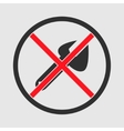 Restricted Repair icon vector image