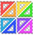ruler triangle of plastic transparent vector image vector image