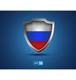Russia shield on the blue background vector image vector image