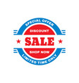 sale badge design discount special offer banner vector image vector image