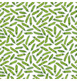 seamless endless pattern of green peas and peeled vector image vector image