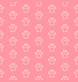 seamless pattern with cat or dog trail outline vector image vector image