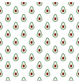 seamless pattern with half avocado on white vector image vector image