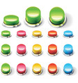 set glossy empty buttons vector image