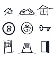 set nine realestate logos vector image