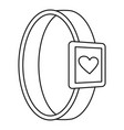 smartwatch heart monitor icon outline style vector image vector image
