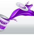 splash violet paint realistic 3d image vector image vector image