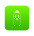 spray deodorant icon green vector image vector image